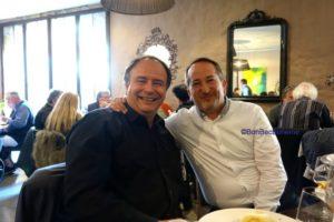 Jérôme Villaret et Fabrice Rieu, les représentants de l'interprofession à la Languedoc week 2017