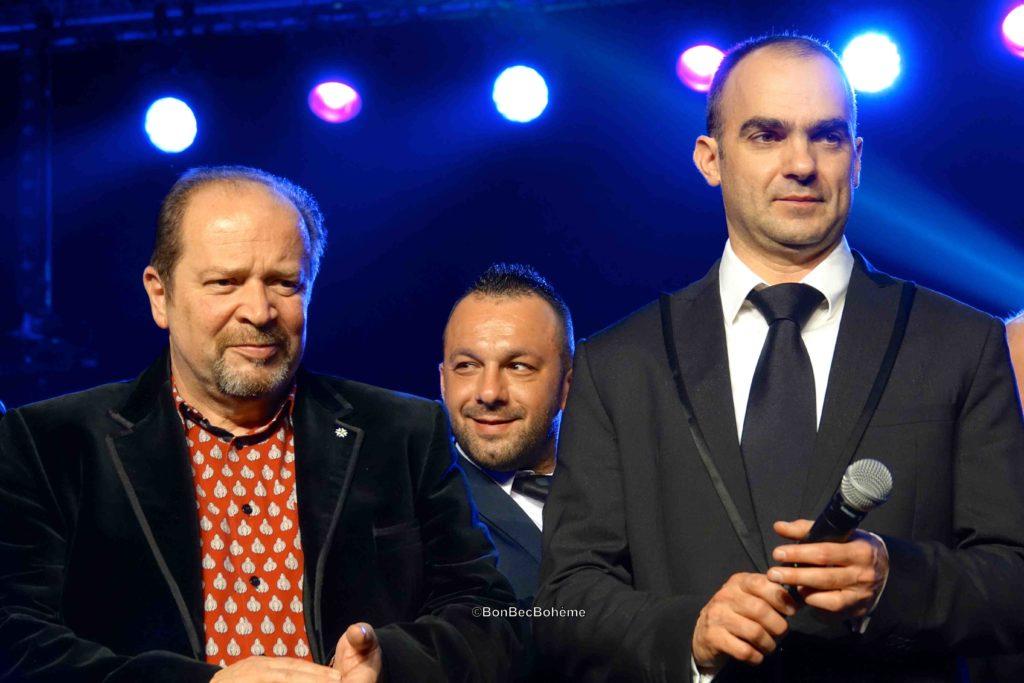 Gilles Goujon et Pierre-Louis Farges, directeur des Vignerons de Sieur d'Arques