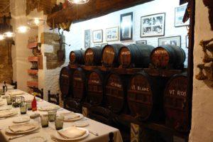 La table réservée à Salvador Dali à l'hôtel Duran